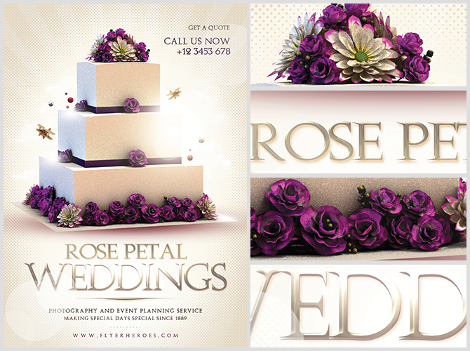 Wedding Flyer Template - FlyerHeroes