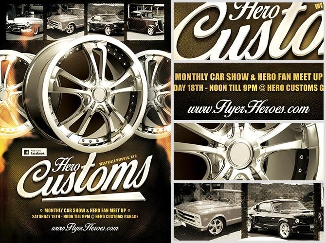 Hero Customs Flyer Template FlyerHeroes – Car Show Flyer Template