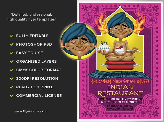 indian restaurant flyer template flyerheroes