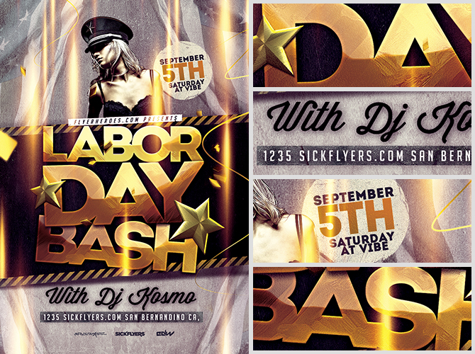 Labor Day Bash Flyer Template FlyerHeroes – Labour Day Flyer Template
