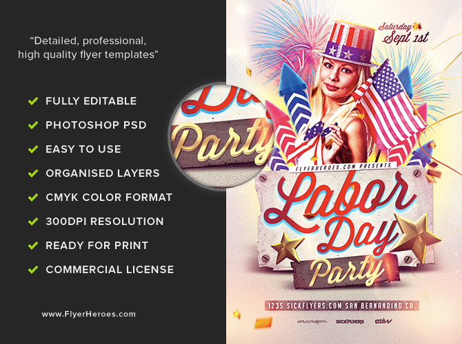 Labor Day Flyer Template FlyerHeroes – Labour Day Flyer Template