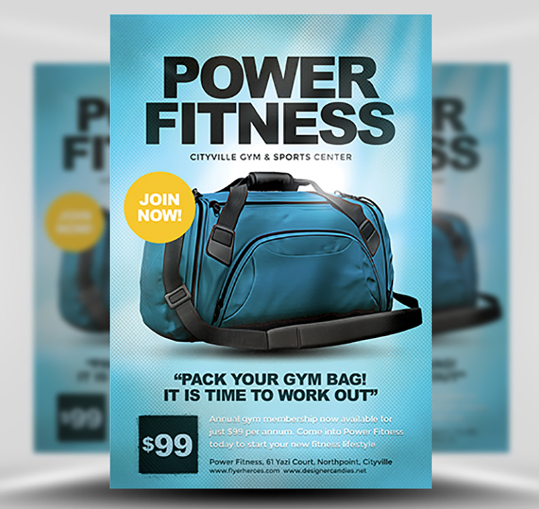 gym flyer template flyerheroes. Black Bedroom Furniture Sets. Home Design Ideas