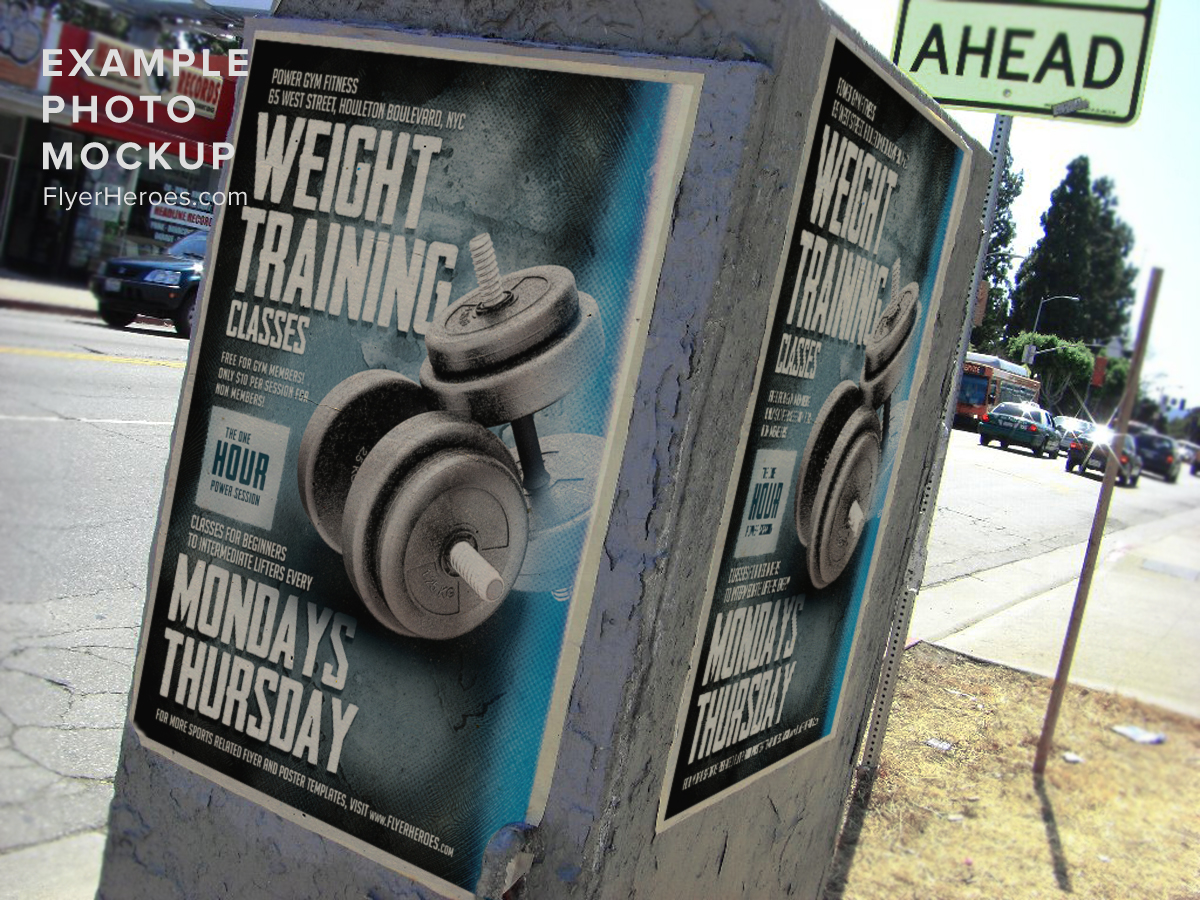 weight training flyer template flyerheroes weight training flyer template