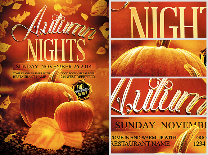 Autumn Nights Flyer Template - FlyerHeroes