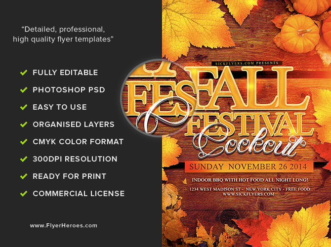 fall festival flyer template flyerheroes. Black Bedroom Furniture Sets. Home Design Ideas