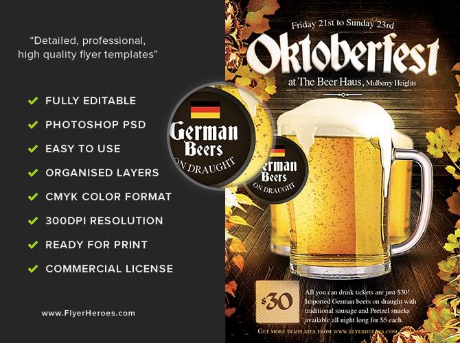 Oktoberfest Flyer Template - FlyerHeroes