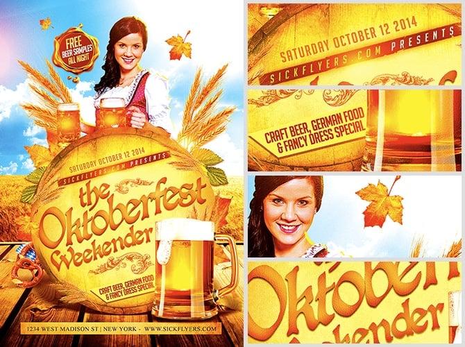 Oktoberfest Weekender Flyer Template - FlyerHeroes