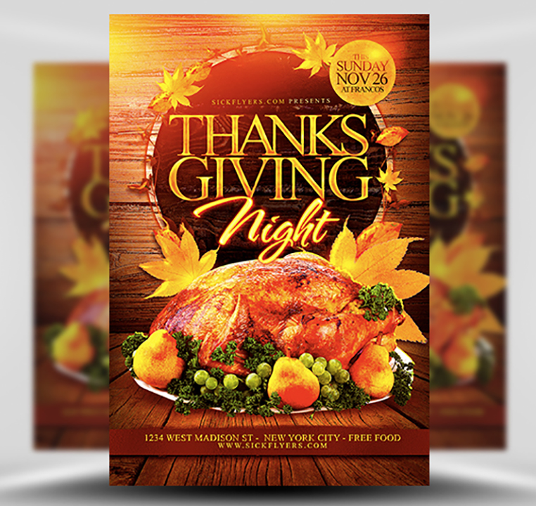 Thanksgiving Flyer Template from flyerheroes.com