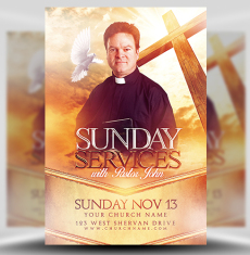 Church flyer templates for photoshop flyerheroes for Free church flyer templates photoshop
