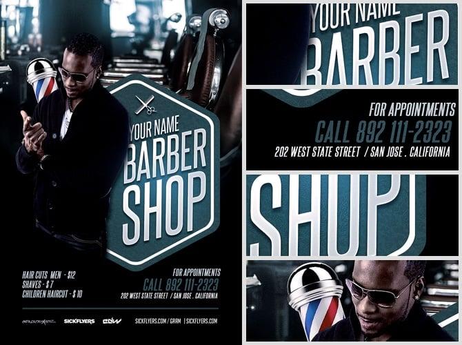 Barber's Shop Flyer Template - FlyerHeroes
