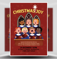 Christmas Choir Flyer Template 1