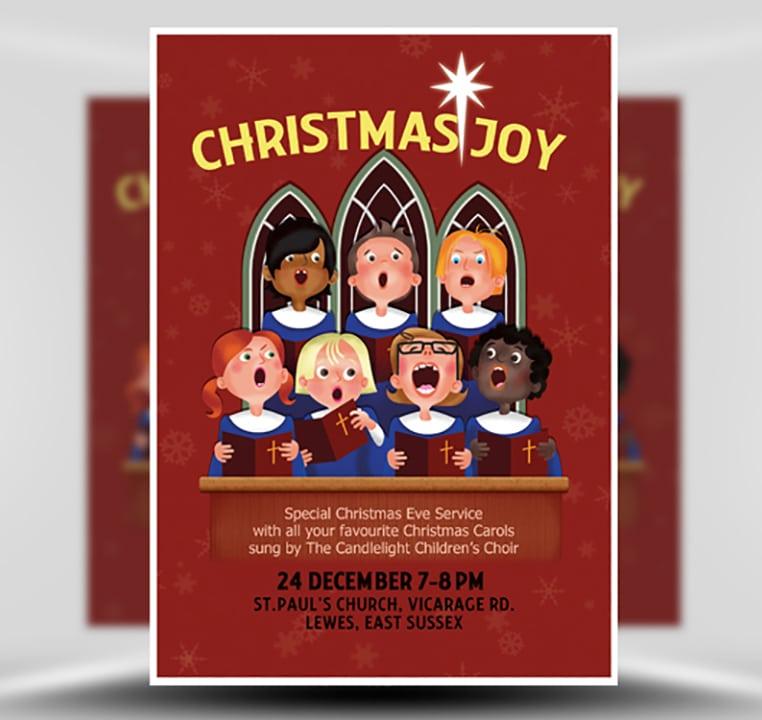 christmas choir flyer template flyerheroes. Black Bedroom Furniture Sets. Home Design Ideas