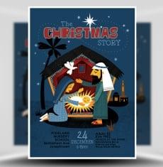 Christmas Nativity Flyer Template 1