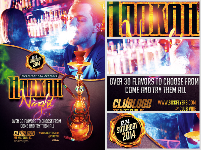 Hookah Lounge Flyer Template FlyerHeroes – Lounge Flyer Template