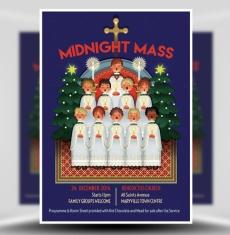 Midnight Mass Flyer Template 1