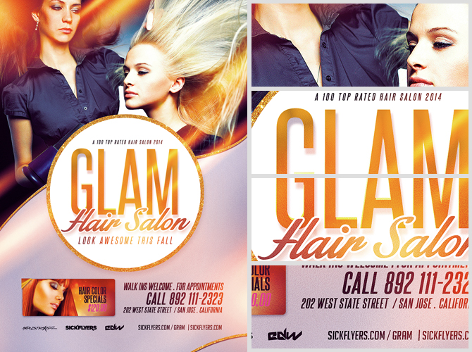 Flyers For Hair Salons