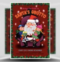 Santa's Grotto Flyer Template 1