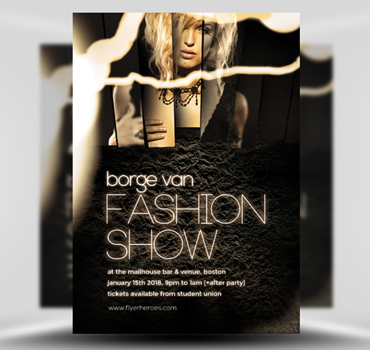 Fashion Show Flyer Template - FlyerHeroes