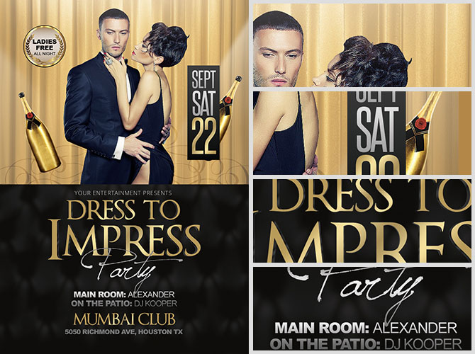 Dress to Impress Flyer Template - FlyerHeroes