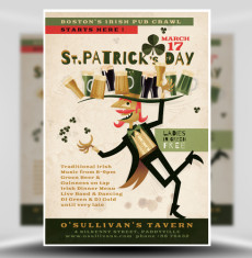 Illustrated St Patricks Day Flyer Template 1
