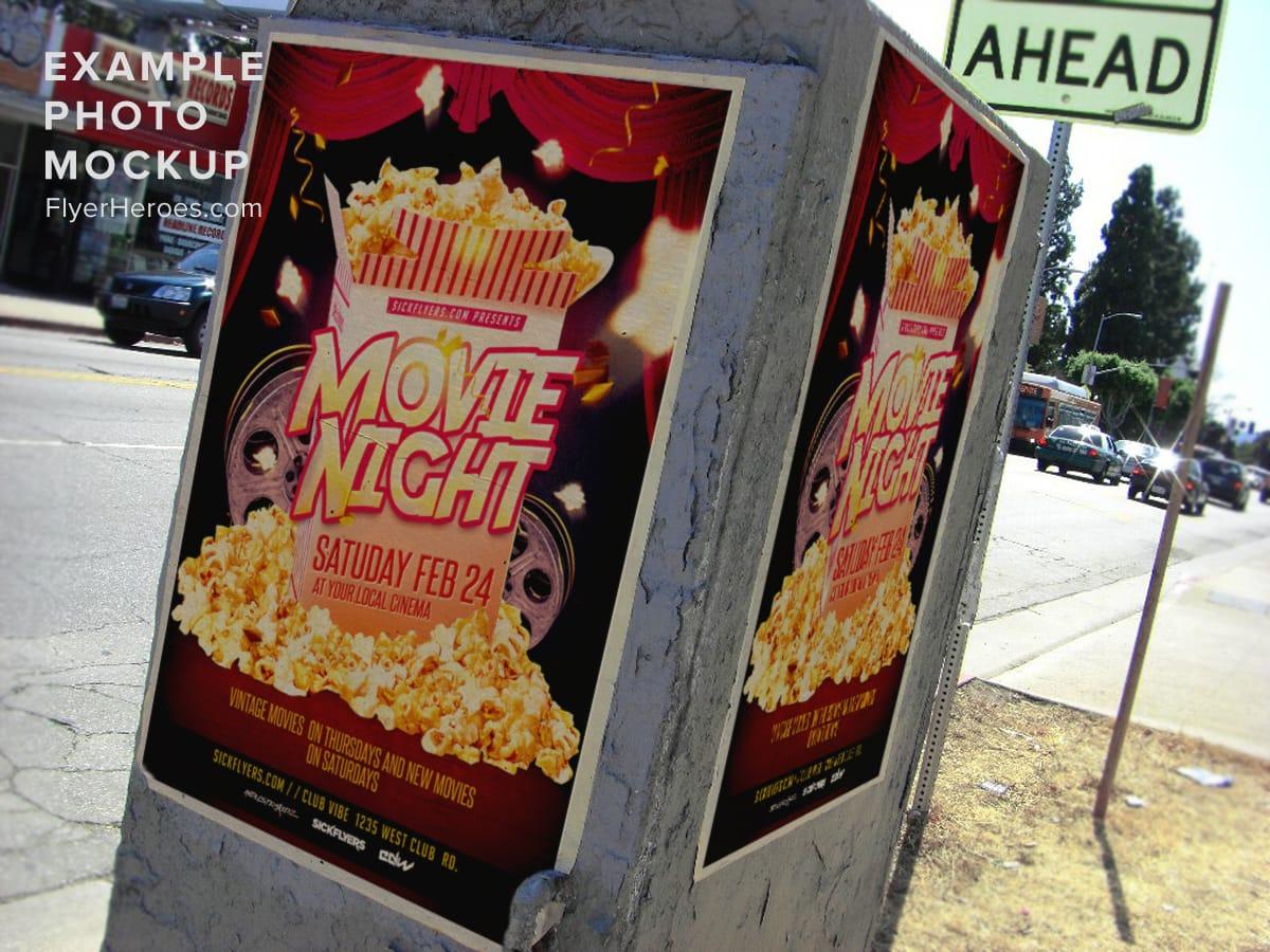 Movie Night Flyer Template FlyerHeroes – Movie Night Flyer Template