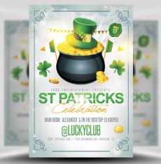 St Patricks Celebrations Flyer Template 2 1