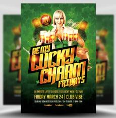 Be My Lucky Charm PSD Flyer Template 1