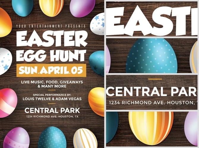 Easter Egg Hunt Flyer Template - FlyerHeroes