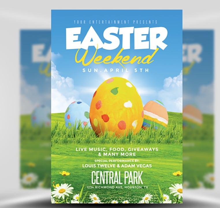 Easter Weekend Flyer Template 2 FlyerHeroes – Easter Brochure Template