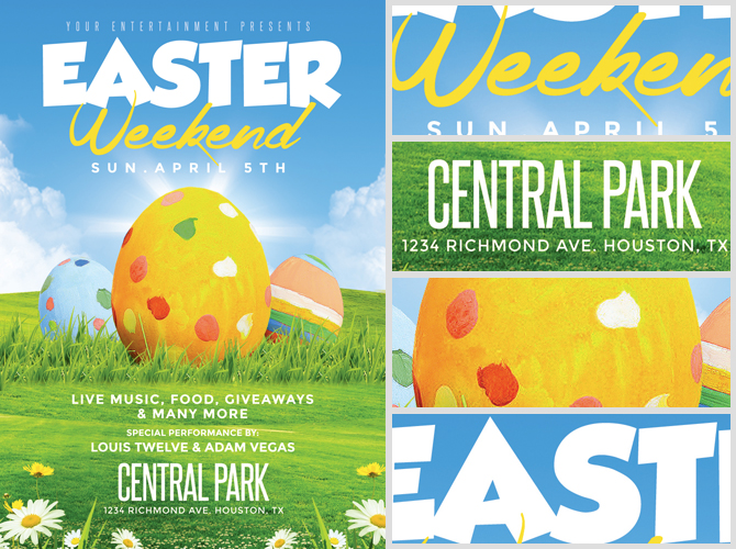 Easter Weekend Flyer Template 2 FlyerHeroes – Easter Flyer Template