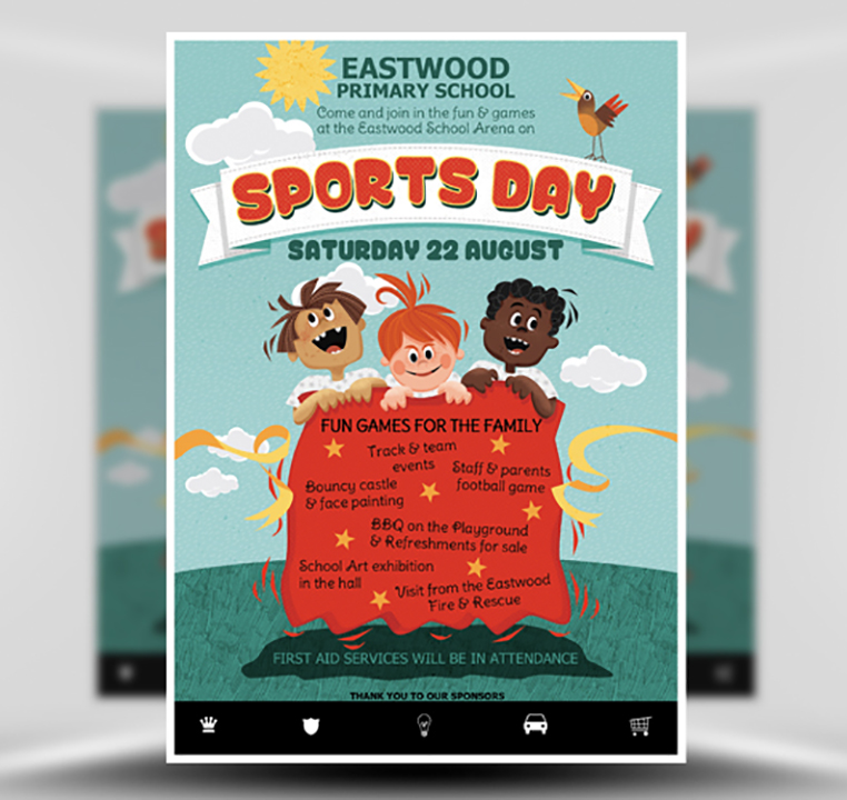 Kid's Sports Day Flyer Template
