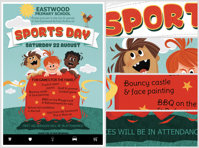 Sports day flyer template pronofoot35fo Images