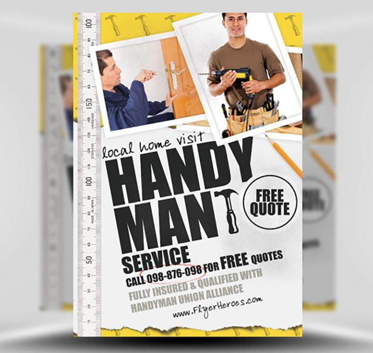 Handyman Flyer Template - FlyerHeroes