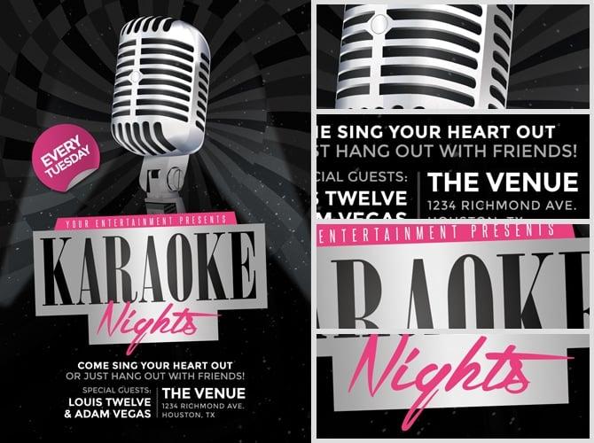 Karaoke Nights Flyer Template 2 Flyerheroes