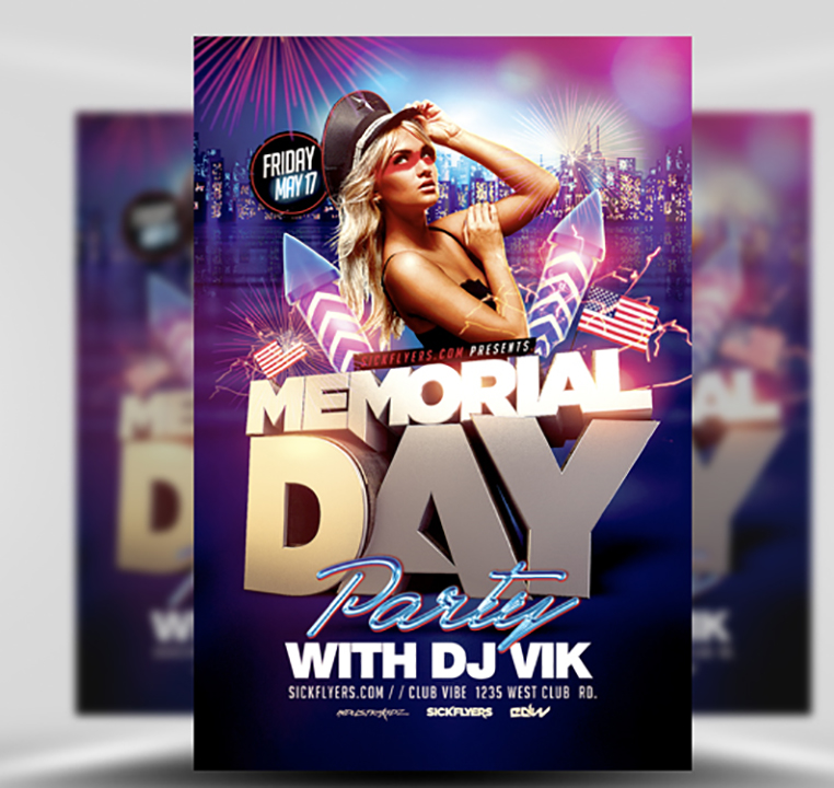 Memorial Day Party Flyer Template FlyerHeroes – Party Flyer Template