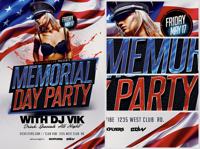 Memorial Day Flyer Design Template Template  Flyer Templates