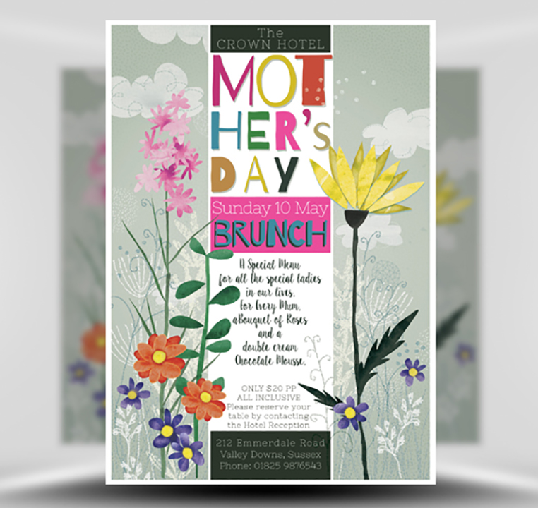 Mother's Day Watercolour Flyer Template