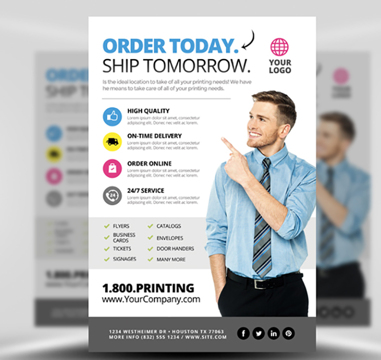 Printing Services Flyer Template 2 - FlyerHeroes