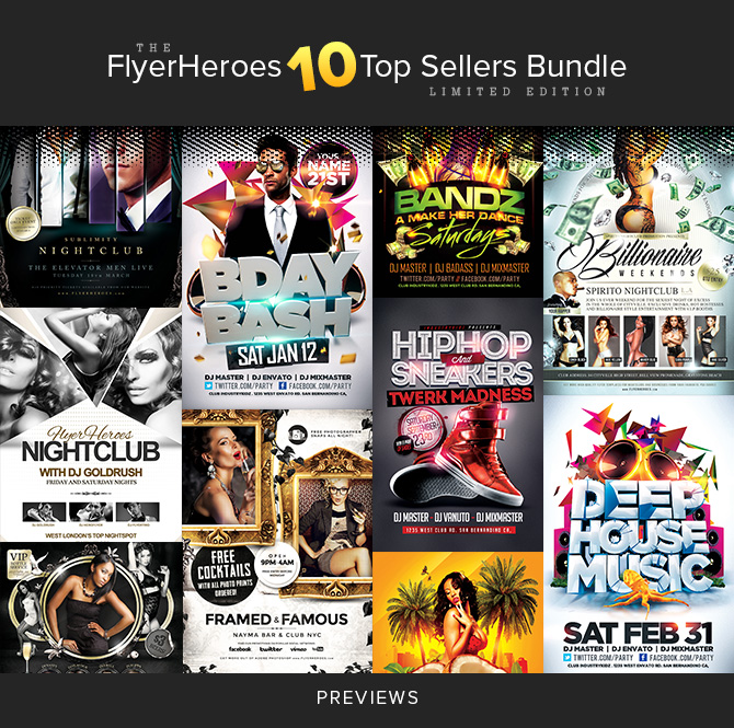 "The FlyerHeroes ""10 Top Sellers Bundle"""