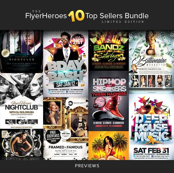 """The FlyerHeroes """"10 Top Sellers Bundle"""""""