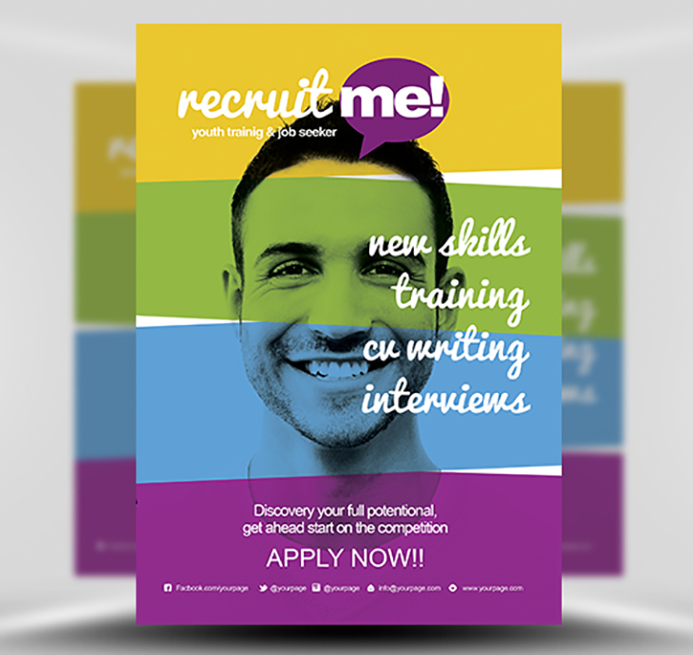 creative recruitment flyer template flyerheroes