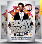 BDAY Bash Flyer Template - Included!