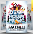 Deep House Music Flyer Template - Included!