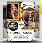 Framed and Famous Flyer Template - Included!