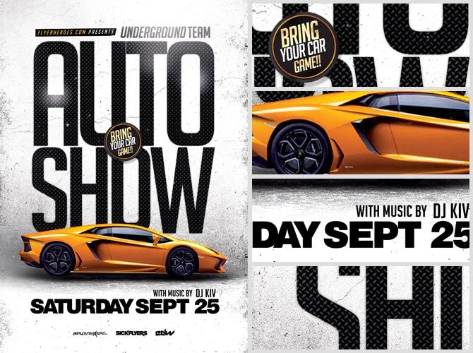 Auto Show Flyer Template FlyerHeroes – Car Flyer Template