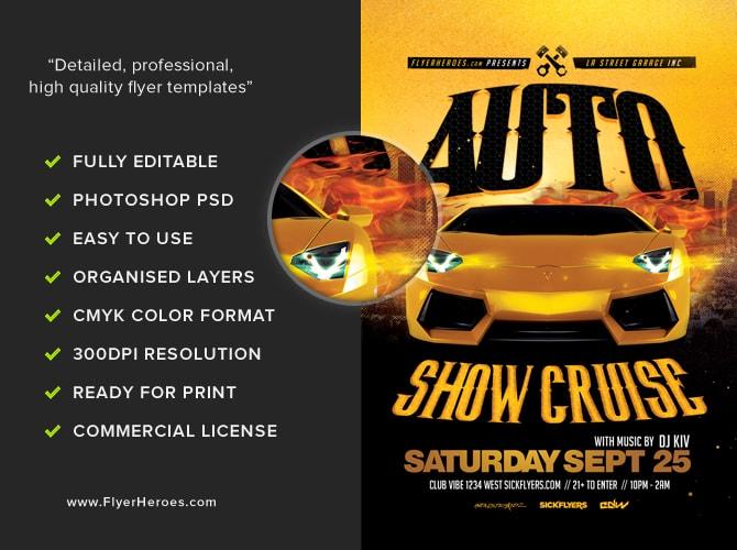 Auto Show Flyer Template 2 FlyerHeroes – Car Show Flyer Template