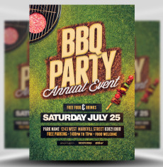 BBQ Party Flyer Template 1
