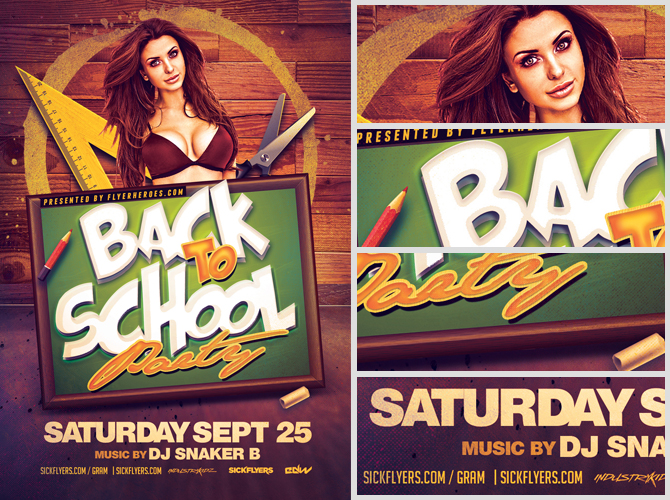 Back To School Party Flyer Template 3 - Flyerheroes