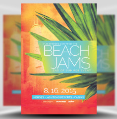 Beach Jams Flyer Template 1