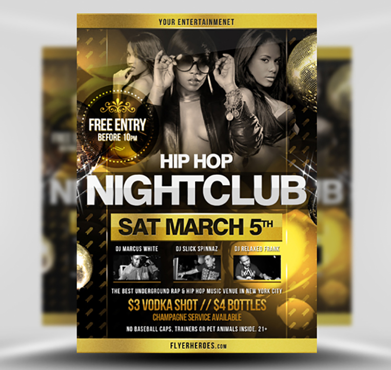 Hip Hop Flyer Template 2 - FlyerHeroes